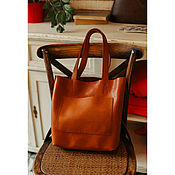 Сумки и аксессуары handmade. Livemaster - original item leather womens bag handmade brown. Handmade.