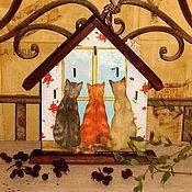 """Для дома и интерьера ручной работы. Ярмарка Мастеров - ручная работа Ключница""""Сидим, весну ждем -2"""". Handmade."""