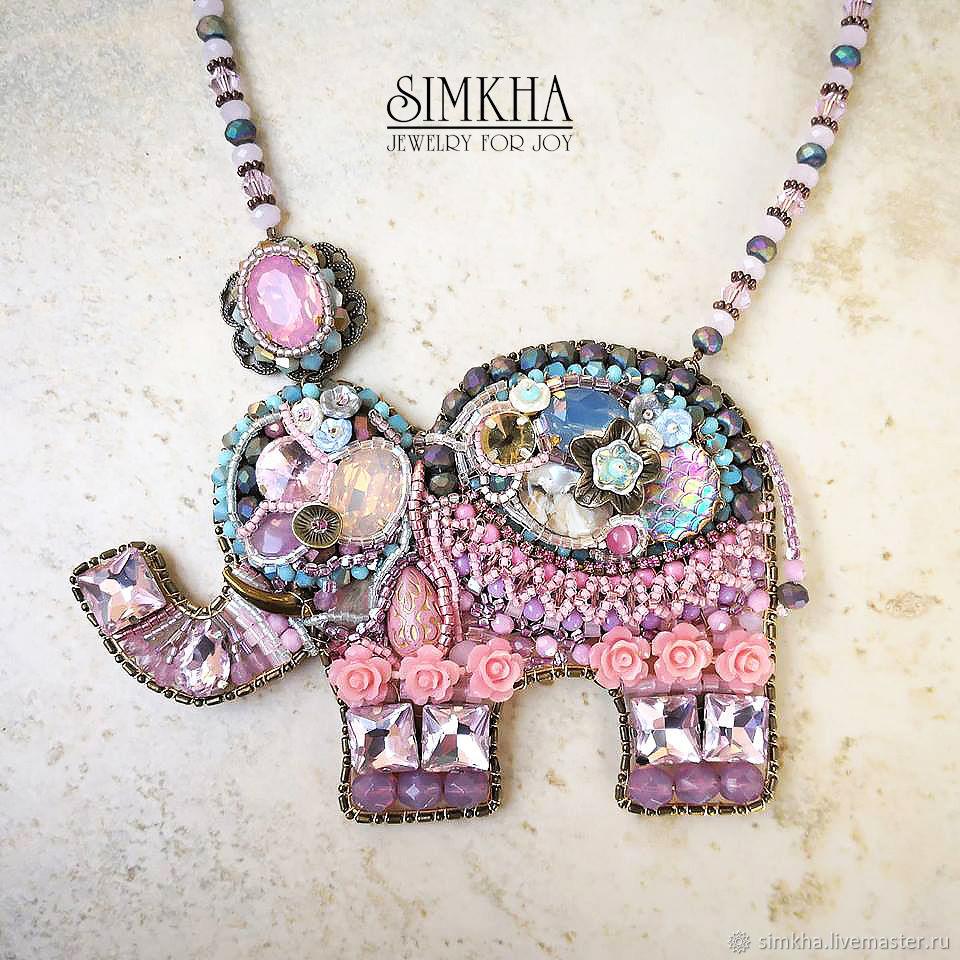 Necklace with elephant, Necklace, Netanya,  Фото №1