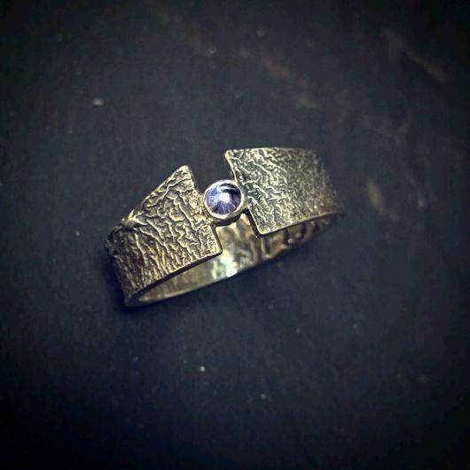 """Кольца ручной работы. Ярмарка Мастеров - ручная работа. Купить Кольцо """"Врата"""" из серебра с фактурой. Handmade. Серебряный, фактурированное серебро"""