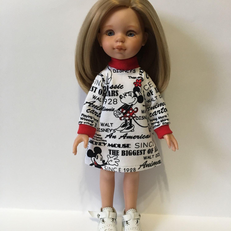 Трикотажное платье для кукол Паола Рейна, Одежда для кукол, Зубцов,  Фото №1