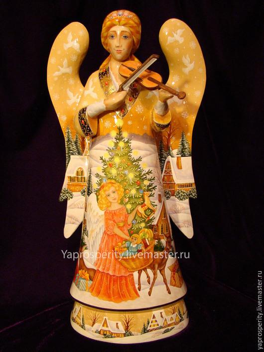 Сувениры ручной работы. Ярмарка Мастеров - ручная работа. Купить ангел. Handmade. Разноцветный, сувенир из дерева, православный подарок, гуашь