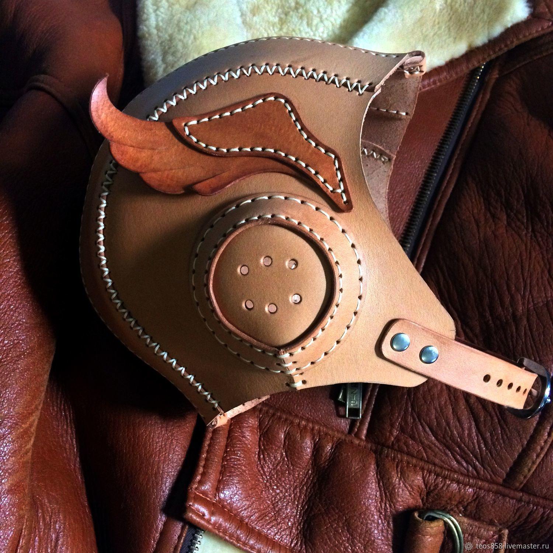 Поясные сумки ручной работы. Ярмарка Мастеров - ручная работа. Купить Шлем 'Авиатор' с крыльями. Handmade. Кожаный аксессуар