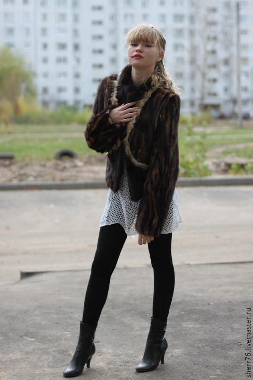 Верхняя одежда ручной работы. Ярмарка Мастеров - ручная работа. Купить Норковая курточка. Handmade. Коричневый, мех натуральный, мех