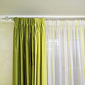 Для дома и интерьера handmade. Livemaster - original item Light green Drapes of satin. Handmade.