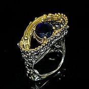 """Украшения ручной работы. Ярмарка Мастеров - ручная работа """" Ночь прекрасна"""" кольцо с черным опалом Эфиопии. Handmade."""