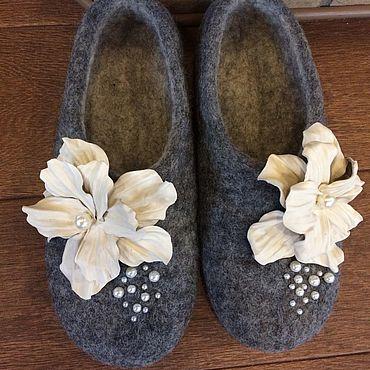 """Обувь ручной работы. Ярмарка Мастеров - ручная работа """"Цветы """". Handmade."""