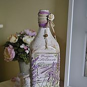 Посуда ручной работы. Ярмарка Мастеров - ручная работа Бутылка декоративная декупаж. Handmade.