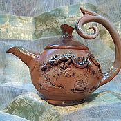 """Посуда ручной работы. Ярмарка Мастеров - ручная работа Чайник """"Небесный дракон"""". Handmade."""