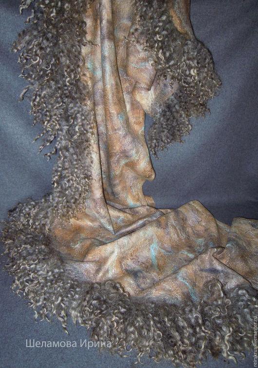 """Шали, палантины ручной работы. Ярмарка Мастеров - ручная работа. Купить шаль палантин """" У водопада """". Handmade."""