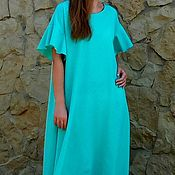 Одежда handmade. Livemaster - original item summer dress, color mats,viscose silk. Handmade.