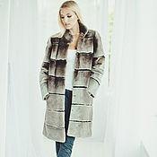 Одежда handmade. Livemaster - original item Beaver fur coat in grey. Handmade.