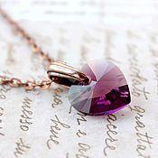 Украшения handmade. Livemaster - original item Heart Nicole. Pendant with Swarovski crystal. Handmade.
