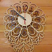 """Для дома и интерьера ручной работы. Ярмарка Мастеров - ручная работа Резные часы """"Листочки"""". Handmade."""