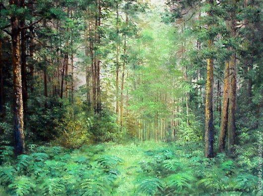 Купить картину,купить картину маслом,пейзаж,папоротник,купить живопись,купить подарок,картина,картина на холсте