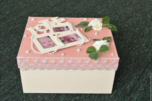 Подарки для новорожденных, ручной работы. Ярмарка Мастеров - ручная работа. Купить Памятная коробка для малыша. Handmade. Память на долгие года