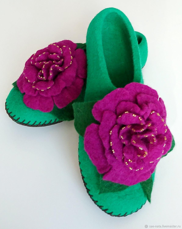 Обувь ручной работы. Ярмарка Мастеров - ручная работа. Купить Валяные тапки женские. Handmade. Валяные тапочки, тапки из шерсти