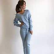 Одежда handmade. Livemaster - original item Women`s blue suit with trousers. Handmade.