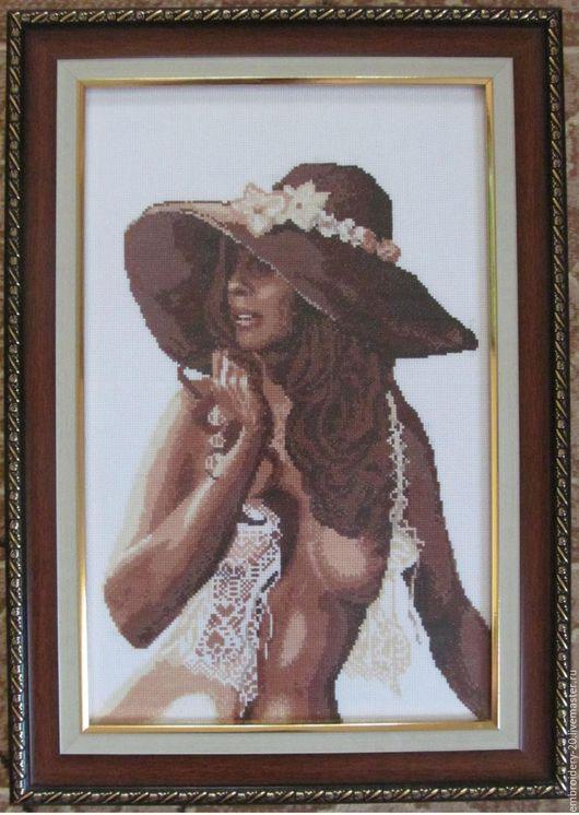 Люди, ручной работы. Ярмарка Мастеров - ручная работа. Купить Дама в шляпе. Handmade. Дама, шляпа женская, обнаженная девушка