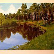 """Картины и панно ручной работы. Ярмарка Мастеров - ручная работа Картина """"Лесное озеро"""". Handmade."""