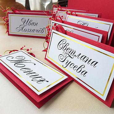 Свадебный салон ручной работы. Ярмарка Мастеров - ручная работа Рассадочные карточки с фольгированием. Handmade.