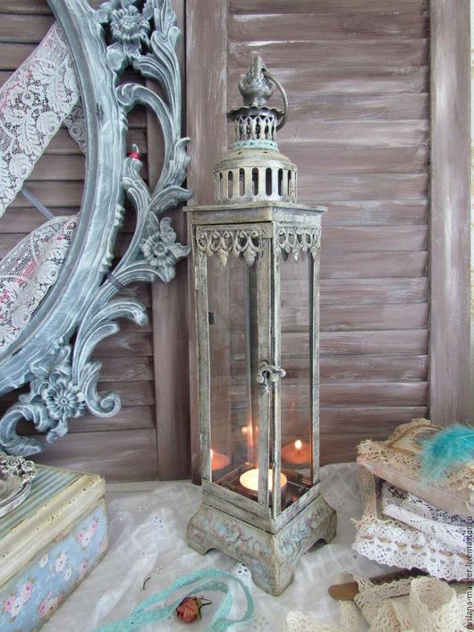 """Подсвечники ручной работы. Ярмарка Мастеров - ручная работа. Купить Свечной фонарь """" Я буду ждать тебя.."""". Handmade."""