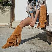 Сапоги ручной работы. Ярмарка Мастеров - ручная работа Высокие замшевые сапоги FRANGE сделано в ручную в Италии. Handmade.