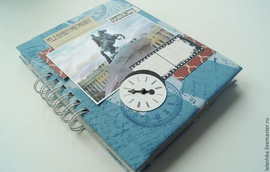 Блокноты ручной работы. Ярмарка Мастеров - ручная работа. Купить Блокнот для фото и записей о путешествии. Handmade. Тревелбук, картон переплётный