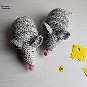 Мягкие игрушки ручной работы. Ярмарка Мастеров - ручная работа Маленькие, вязаные мышки!. Handmade.