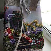 """Классическая сумка ручной работы. Ярмарка Мастеров - ручная работа Рюкзак """" Любимый пейзаж». Handmade."""