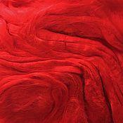 Материалы для творчества ручной работы. Ярмарка Мастеров - ручная работа Вискоза для валяния  Красный 50гр-80р. Handmade.