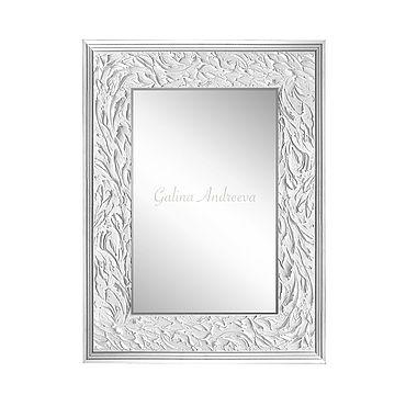 Для дома и интерьера. Ярмарка Мастеров - ручная работа Зеркала: Настенное зеркало с объемным рисунком. 80х60 см. Handmade.