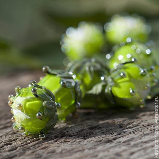 """Для украшений ручной работы. Ярмарка Мастеров - ручная работа. Купить Бусины-артишоки """"Оливковые"""". Handmade. Зеленый, желто-зеленый"""