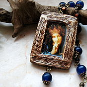 Украшения handmade. Livemaster - original item Night medieval necklace, Pictorial Necklace. Handmade.