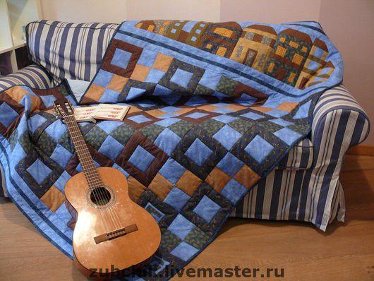 Home Textiles & Carpets handmade. Livemaster - handmade. Buy Patchwork plaid little friend.Quilt, the quilt, blue