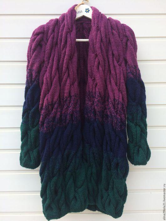 Кофты и свитера ручной работы. Ярмарка Мастеров - ручная работа. Купить Кардиган в стиле Лало (градиент из кос). Handmade. Лало