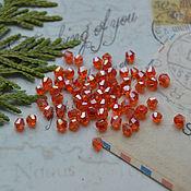 Beads1 handmade. Livemaster - original item Orange faceted bicone 3 mm. Handmade.