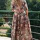 Платья ручной работы. Платье длинное с цветочным принтом. O.Yegorova. Интернет-магазин Ярмарка Мастеров. Платье в пол