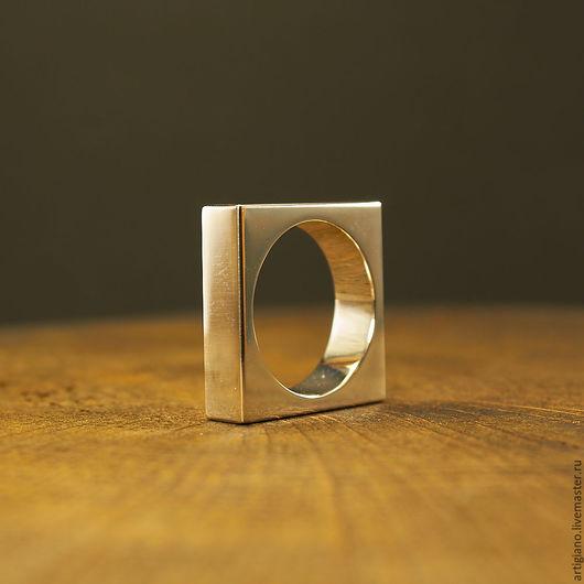 Кольца ручной работы. Ярмарка Мастеров - ручная работа. Купить Кольцо Квадрат. Handmade. Серебряный, массивное кольцо, кольцо для девушки