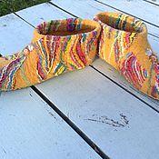 """Обувь ручной работы. Ярмарка Мастеров - ручная работа домашние тапочки-чуни """"Веселая осень"""". Handmade."""