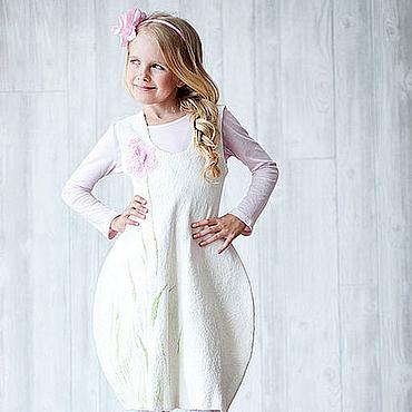 """Работы для детей, ручной работы. Ярмарка Мастеров - ручная работа Авторское валяное платье """"Тюльпан"""". Handmade."""