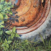 Картины и панно handmade. Livemaster - original item Oil painting Wheel. A series of