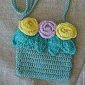 Работы для детей, ручной работы. Ярмарка Мастеров - ручная работа сумочка с розами. Handmade.