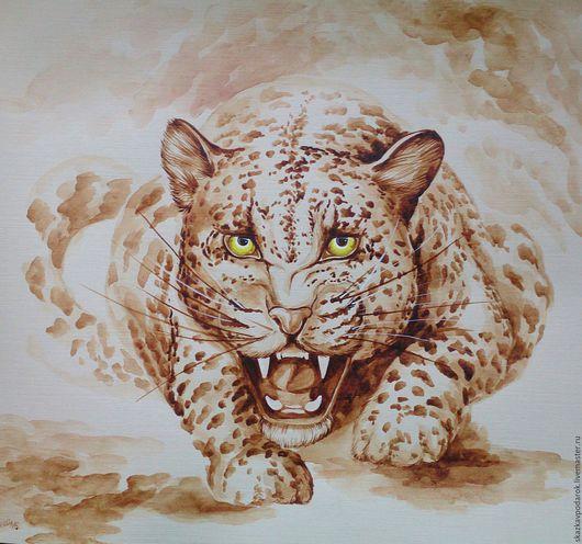 """Животные ручной работы. Ярмарка Мастеров - ручная работа. Купить картина """"Дикий зверь"""". Handmade. Картина, купить подарок"""