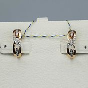 Украшения handmade. Livemaster - original item Gold diamond earrings 0,136 ct. Handmade.