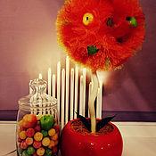 """Топиарии ручной работы. Ярмарка Мастеров - ручная работа Топиарий """"Оранжевое чудо"""". Handmade."""