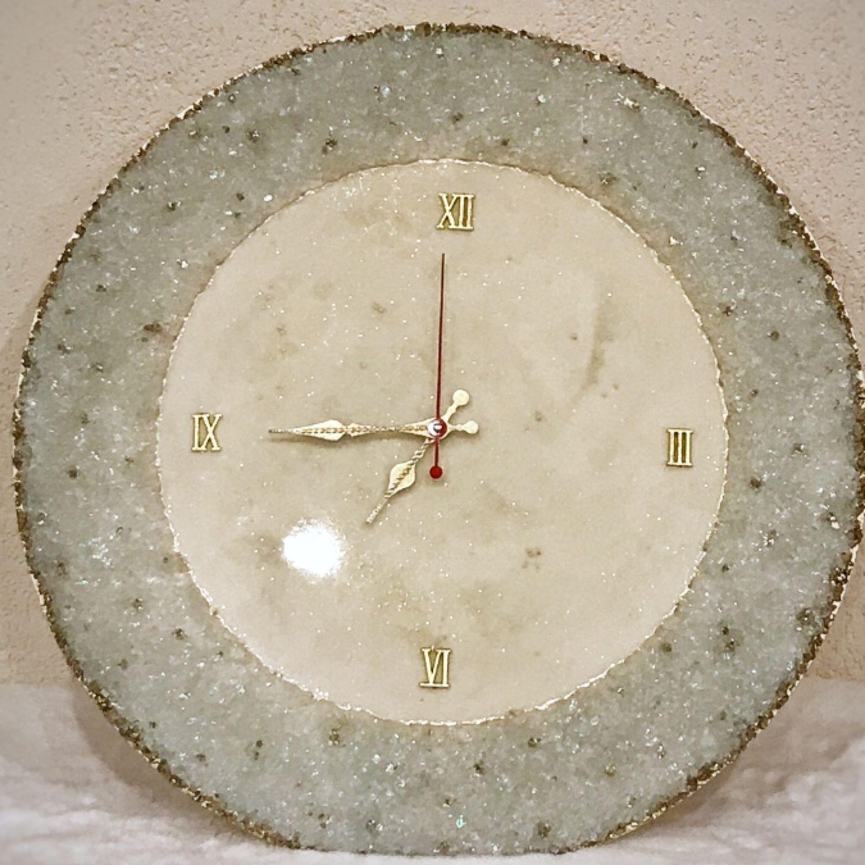 Интерьерные часы из эпоксидный смолы  «Luxury», Часы классические, Пермь,  Фото №1