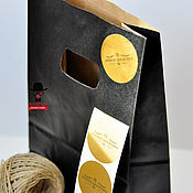Материалы для творчества ручной работы. Ярмарка Мастеров - ручная работа Золотые наклейки на виниле с логотипом. Handmade.