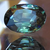 Материалы для творчества handmade. Livemaster - original item Sapphire green 0,825 CT., natural. Handmade.