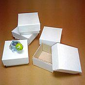 Сувениры и подарки ручной работы. Ярмарка Мастеров - ручная работа Коробочка 5х5х3 см цвет белый. Handmade.